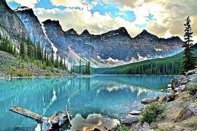 Photograph - At Waters Edge Moraine Lake by Frozen in Time Fine Art Photography