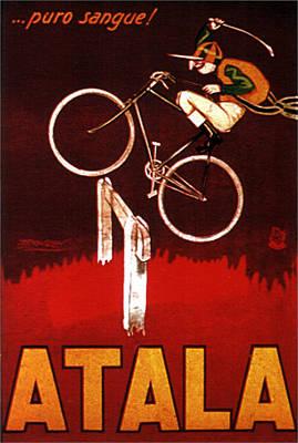 Mixed Media - Atala - Racing Bicycles - Vintage Advertising Poster by Studio Grafiikka