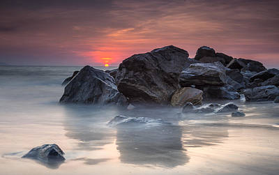 Nuevo Vallarta Photograph - Atardecer En La Playa by Edward Kreis