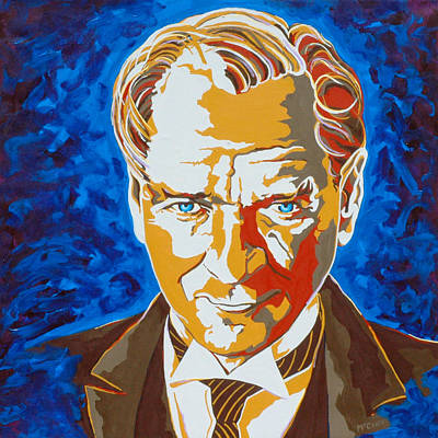 Turkey Painting - Ataturk by Dennis McCann