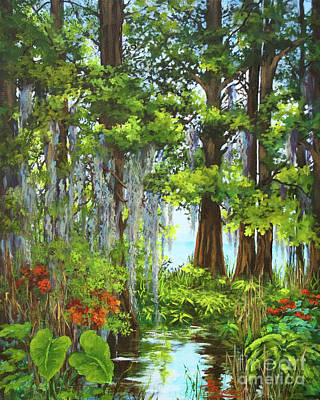 Acadian Painting - Atchafalaya Swamp by Dianne Parks