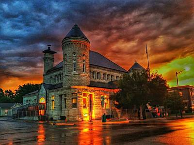 Atchison Post Office  Art Print by Dustin Soph