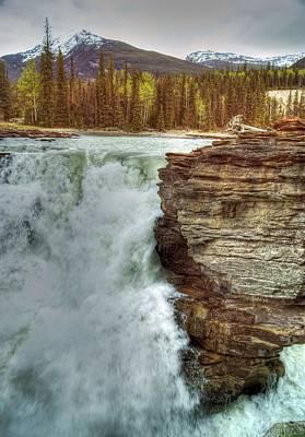 Poer Photograph - Athabasca Falls 3 by David Birchall