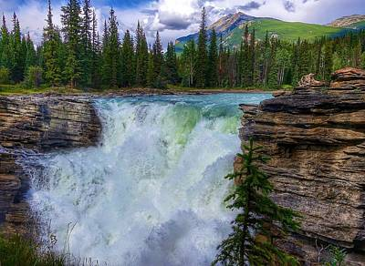 Photograph - Athabasca Falls, Ab  by Heather Vopni