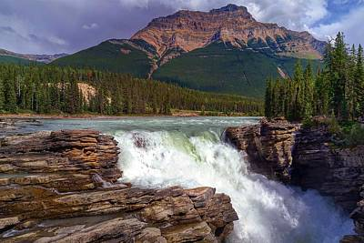 Photograph - Athabasca Falls by Heather Vopni