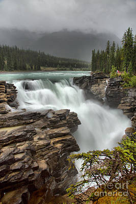 Athabasca Falls Photograph - Athabasca Falls In The Rain by Adam Jewell