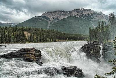 Photograph - Athabasca Falls - Jasper N. P. Canada   by Dyle   Warren