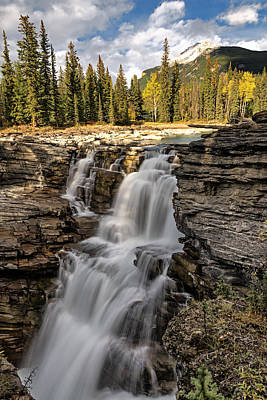 Photograph - Athabasca Falls by John Gilbert