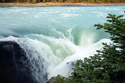 Photograph - Athabasca Falls by Larry Ricker