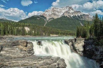 Photograph - Athabasca Falls by Russell Pugh
