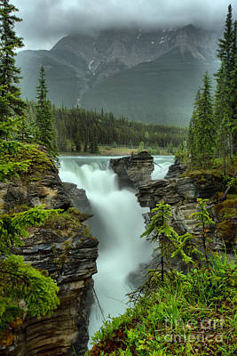 Photograph - Athabasca Falls Spring Portrait by Adam Jewell