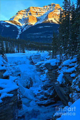 Photograph - Athabasca Falls Sunset by Adam Jewell