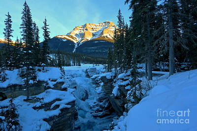 Photograph - Athabasca Falls Sunset Landscape by Adam Jewell