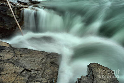 Photograph - Athabasca Falls Through The Cracks by Adam Jewell