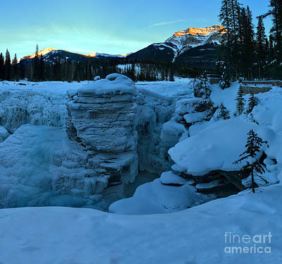 Photograph - Athabasca Falls Winter Sunset by Adam Jewell