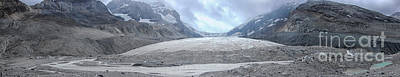 David Bowie Royalty Free Images - Panorama of the Athabasca glacier in Canada Royalty-Free Image by Patricia Hofmeester