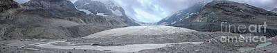 Pasta Al Dente - Panorama of the Athabasca glacier in Canada by Patricia Hofmeester