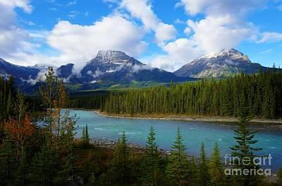 Athabasca River Hwy 93 Jasper To Icefields Parkway Jasper National Park Alberta Canada Art Print