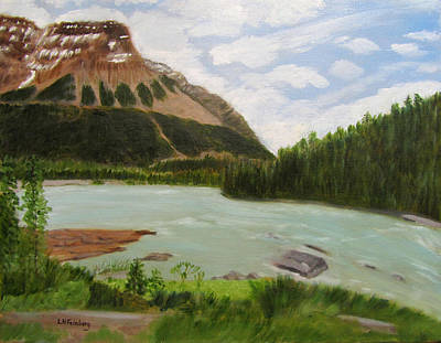 Painting - Athabasca River by Linda Feinberg