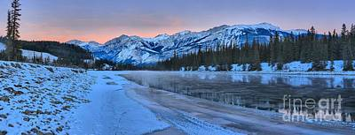 Photograph - Athabasca River Pink Sunset by Adam Jewell