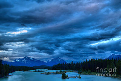 Photograph - Athabasca River Stormy Sunset by Adam Jewell