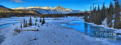 Photograph - Athabasca River Winter Landscape by Adam Jewell