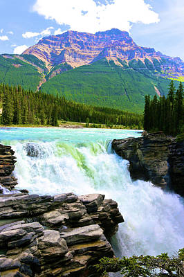 Photograph - Athabaska Falls by Polly Castor