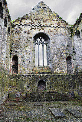Athassel Priory Ireland Medieval Ruins Great Window Art Print by Shawn O'Brien