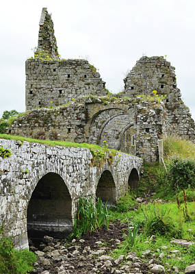 Irish Photograph - Athassel Priory Irish Medieval Abbey Ruins Bridge And Gatehouse Arches Tipperary  by Shawn O'Brien
