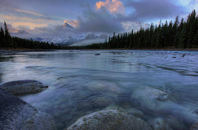 Photograph - Athabasca River Sunrise by Dan Jurak