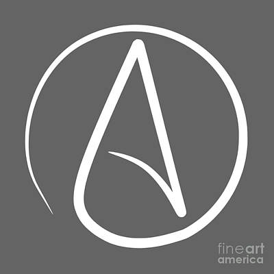Atheist Symbol Original by Frederick Holiday