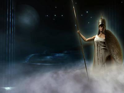 Athena Digital Art - Athena - Goddess Of Wisdom by Kostas Nikellis