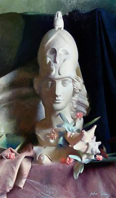 Wall Art - Painting - Athena Goddess Of War by John Folley