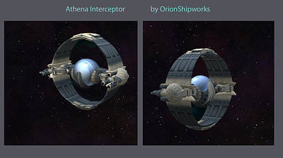 Digital Art - Athena Interceptor by Don Perino