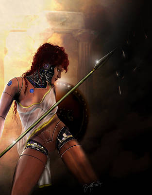 Digital Art - Athena by Jeremy Martinson