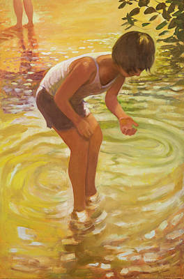 Athena Wading Art Print