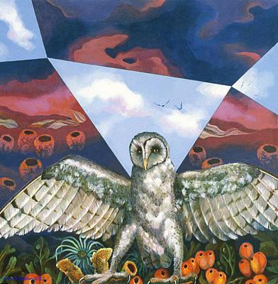 Painting - Athena's Owl by Kyra Belan