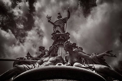 Photograph - Athenebrunnen Fountain by Roberto Pagani