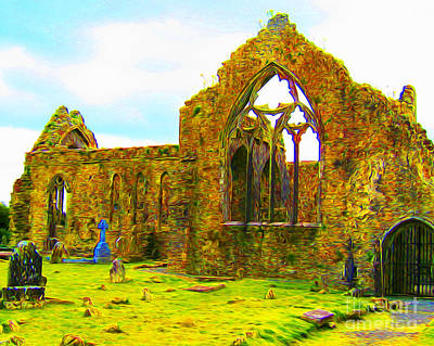 Digital Art - Athenry Ruin by Joseph Re