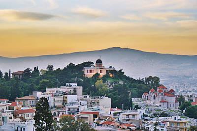 Tourism Digital Art - Athens - Greece by Hristo Hristov