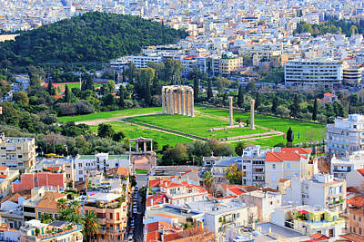European City Digital Art - Athens - Temple Of Olympian Zeus by Hristo Hristov