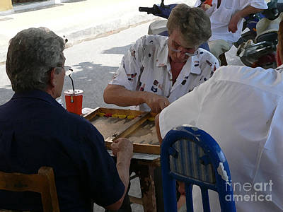 Photograph - Athens Backgammon by David Bearden