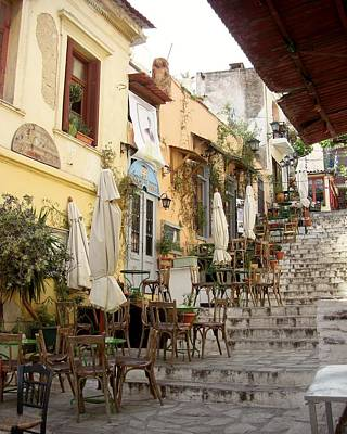 Photograph - Athens Cafe by KJ Swan