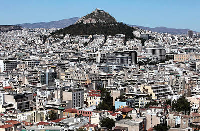 Athens City View Art Print
