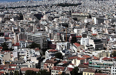 Photograph - Athens Cityscape IIi by John Rizzuto