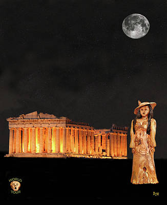 Mixed Media - Athens Fashion by Eric Kempson