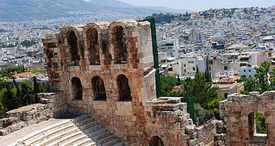 Photograph - Athens From Acropolis II by Robert Moss