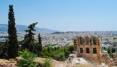 Photograph - Athens From Acropolis by Robert Moss