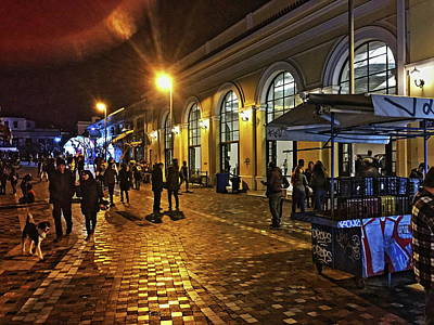 Photograph - Athens At Night. by Shlomo Zangilevitch