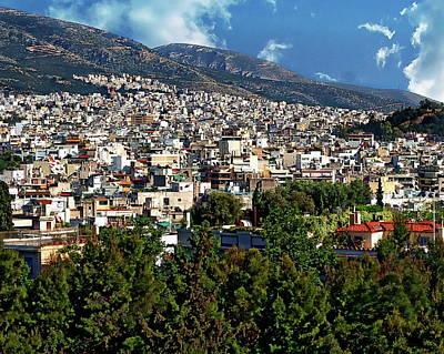 Photograph - Athens Panorama by Anthony Dezenzio